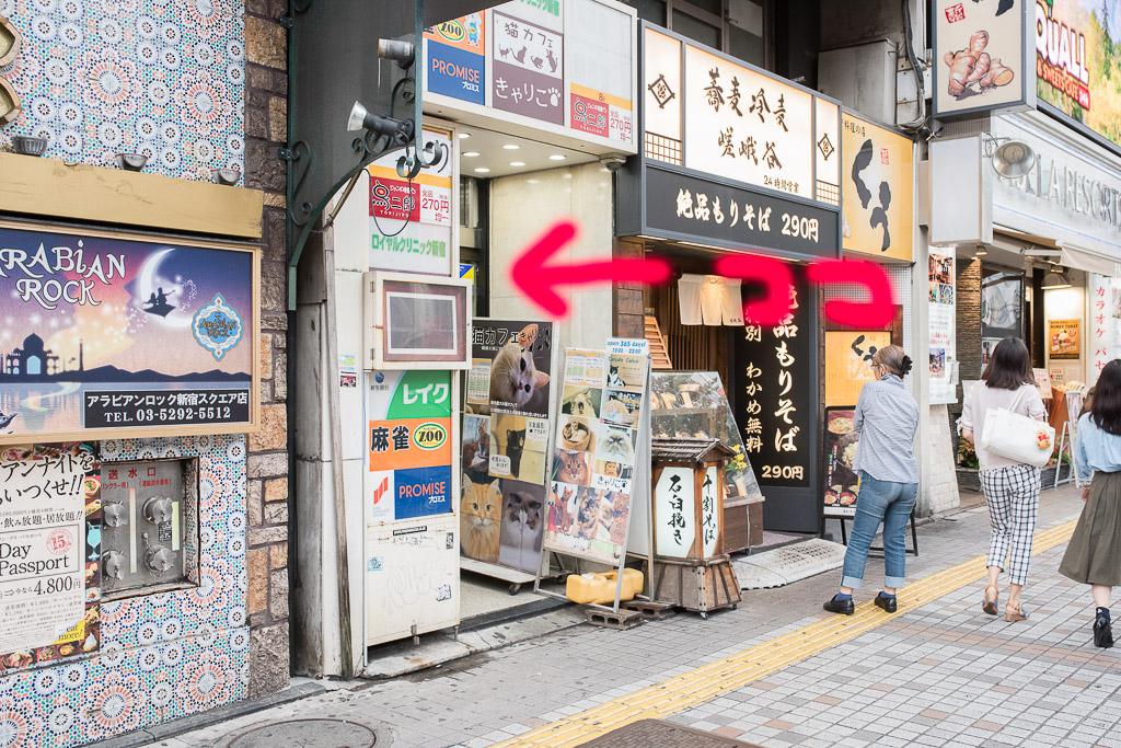 猫カフェ・きゃりこの入り口