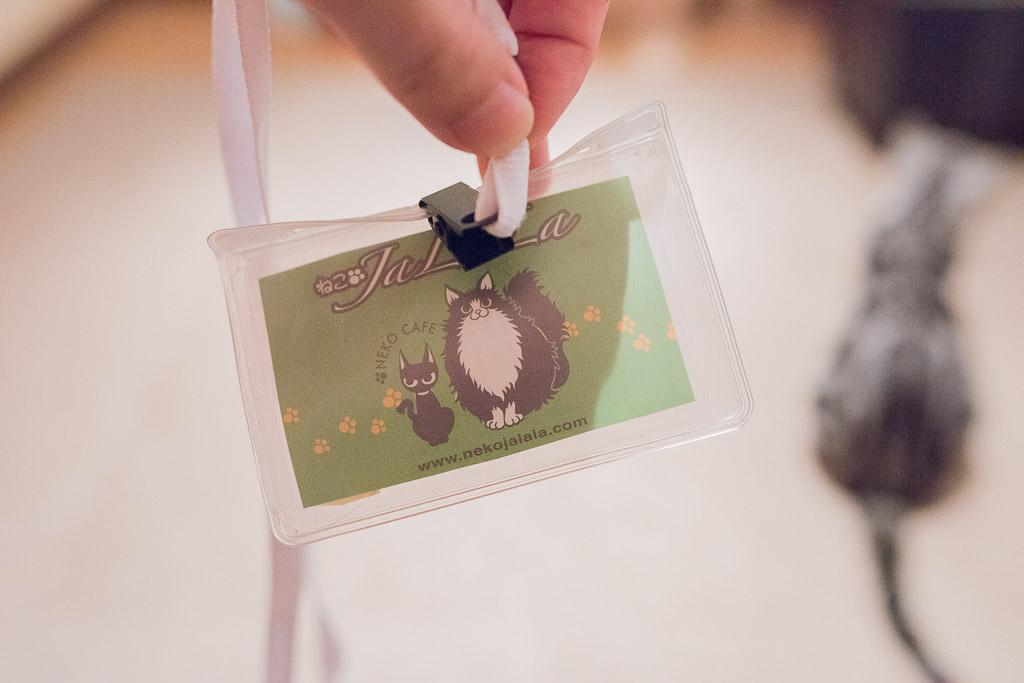 猫カフェ・ジャララの入店カード
