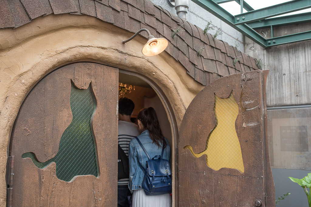 猫カフェ・てまりのおうちの扉