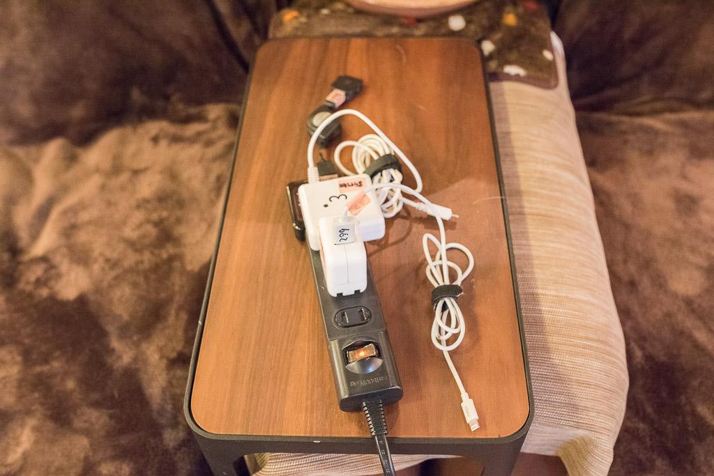 猫カフェ・猫の居る休憩所299で貸し出してくれる充電器