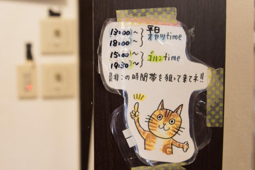 猫まるカフェのおやつの時間