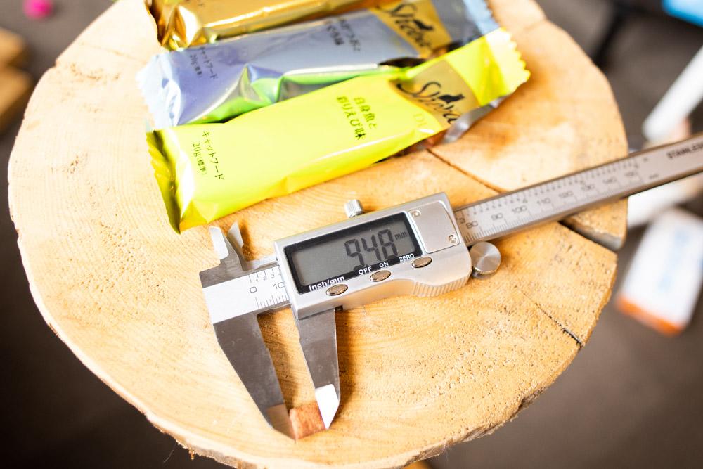 シーバDUO 贅沢シーフード味セレクションの長さ測定