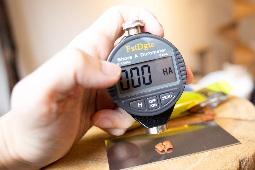 シーバDUO 贅沢シーフード味セレクションの硬さ測定