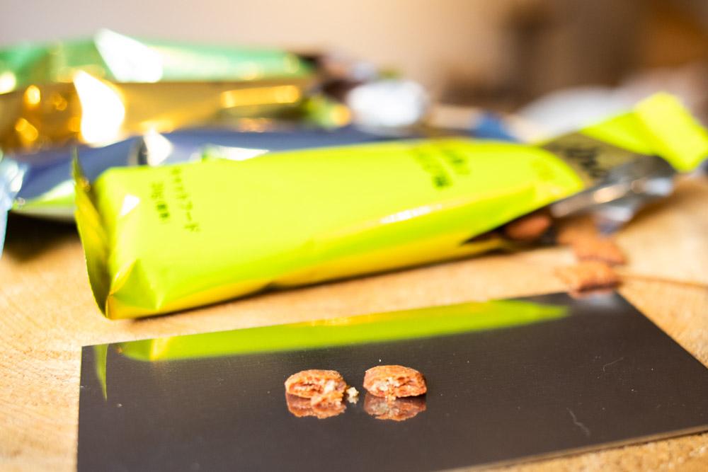 シーバDUO 贅沢シーフード味セレクションの粒の断面写真