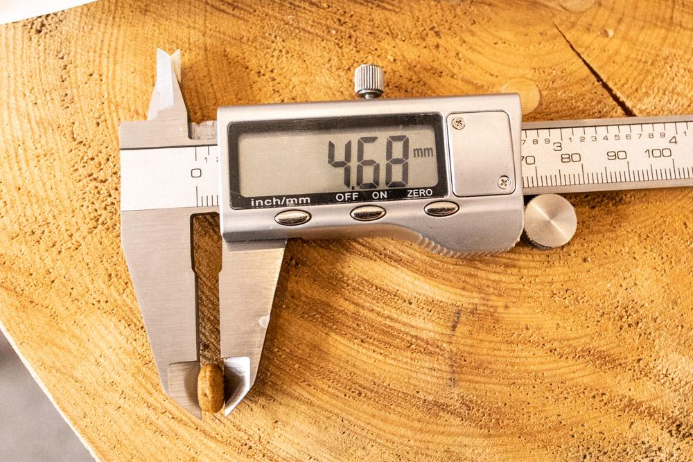 ロイヤルカナン アロマエクシジェントの厚み測定