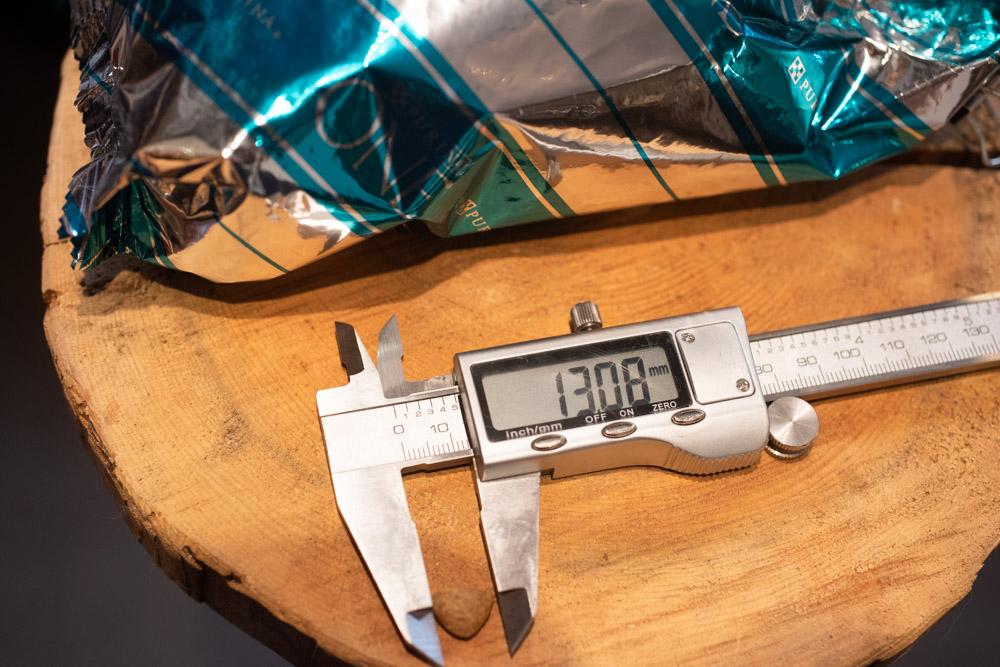 ピュリナワン グレインフリー 白身魚の長さ測定