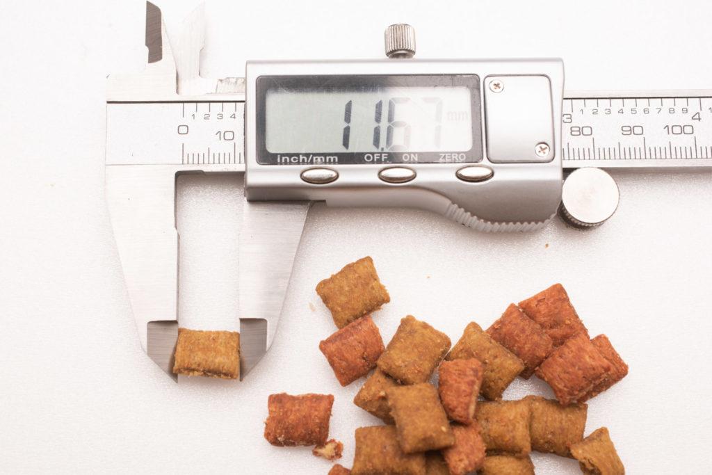 シーバDUO香りのまぐろ味セレクション、まぐろ・たい味の長さ測定