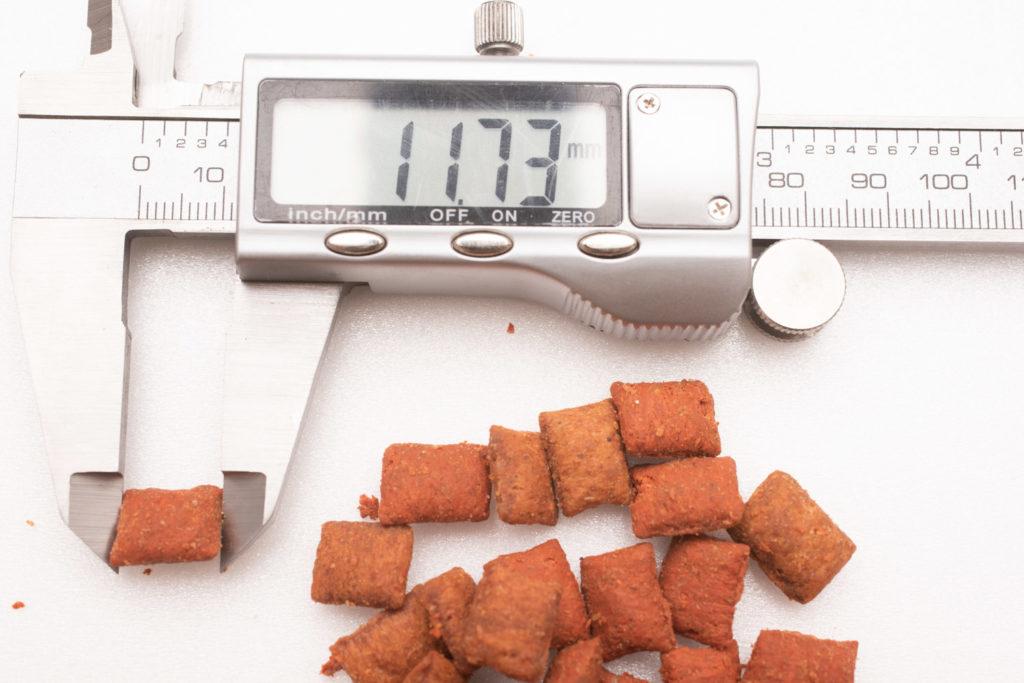 シーバDUO香りのまぐろ味セレクションのまぐろ・ずわいがに味の長さ測定