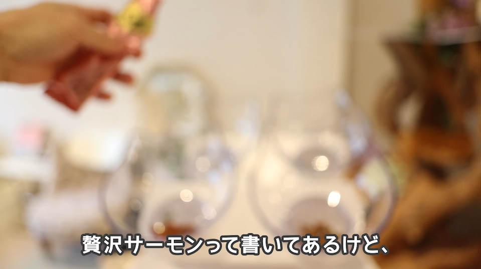 シーバDUO魚介とお肉のチーズ味セレクションの贅沢サーモンについて